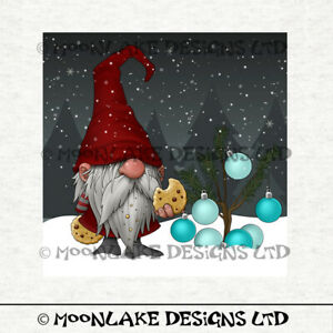 Nisse Scandi Christmas Gnomes, Fabric Craft Panels in 100% Cotton or Polyester