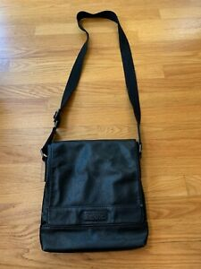 Kenneth Cole Reaction DISTRESSED FAUX LEATHER CROSSBODY TABLET CASE, pre-owned