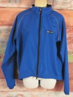 Louis Garneau Women's Cycling Blue Jacket Size Small Full Zip Long Sleeve EUC