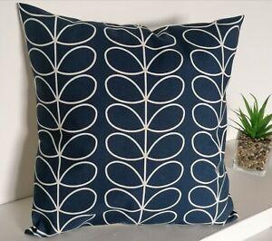 """18"""" Cushion Cover Orla Kiely Linear Stem Whale Navy Blue"""