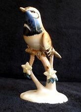 VTG CZECH ROYAL DUX BIRD ON BRANCH W/FLOWERS PORCELAIN FIGURINE #424 MINT