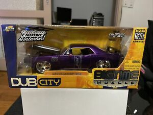 Jada Toys Dub City Bigtime Muscle 1:24 1970 Plymouth Cuda Purple