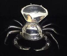 Vintage Spanish Sterling Silver Novelty Crab Snuff Box