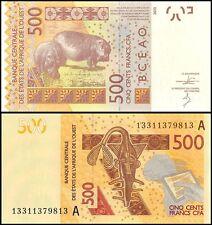 West African States 500 Francs, 2013, P-119Ab, UNC, PREFIX-A, Ivory Coast