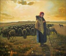 Quality Hand Painted Oil Painting Repro Jean Millet Shepherdess 20x24in