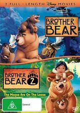 BROTHER BEAR 1 - 2 :  (DVD Region 4) Walt Disney Double Feature Pack