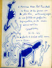 art moderne Atlan dessin original signé