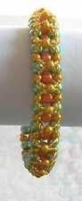 """""""Annabelle"""" Colors of Summer Beaded Handmade Bracelet by Slave Violet Jewelry"""