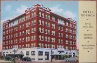 1930 Postcard: Hotel Gordon - Albany, Georgia GA