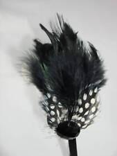 Fashion Black Zebra Feather design Jewel Head Band new