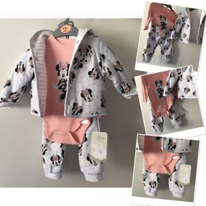New tags Prk Disney Minnie Mouse joggers set & jacket cardigan 3-6 Months