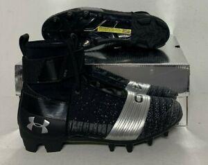 Under Armour UA C1N MC Cam Newton Football Cleats Black Silver [3000175-001]