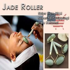 Jade Roller Natural Stone Face Beauty Massage USA SELLER, SHIPS FAST! A+ Quality