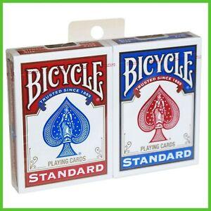 Carte da Gioco 2 Mazzi BICYCLE STANDARD Due Poker per Giochi di Prestigio Magia