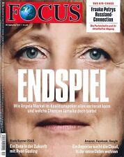 FOCUS Magazin - Heft 40/2017 - 30.9.2017: Endspiel  +++ wie neu +++