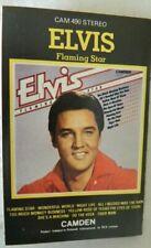 Elvis Flaming star Camden 490 Music audio Cassette Card insert