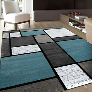 RUGSHOP CONTEMPORARY MODERN BOXES SOFT AREA RUGS
