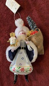 1998 Christopher Radko Italian Blown Glass Ornament With Toys And Bears Santa
