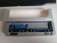 Herpa 1:87 Scania R420 Kipper + TU4 Goldhofer Dealermodel blau