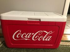 COCA COLA COOLER COLEMAN RARE GENTLY USED ADVERTISING CAMPING PICNIC