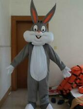 Bugs Bunny Rabbit Mascot Costume Cartoon Character Adult Suit Fancy Dress NEW