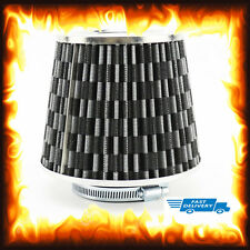 "Universal 76mm 3"" Sports High Flow Cold Intake Round Mesh Cone Air Filter Kit"