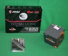 AMD Ryzen 5 1600 3.2GHz Six Core & MSI Tomahawk AM4 B350 Motherboard & 16GB KIT