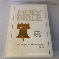 Holy Bible American Bicentennial KJV Illustrated 1776-1976 King James Red Letter