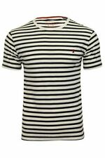 Joules 207073 Short Sleeve Crew Neck Tee in French Navy Stripe
