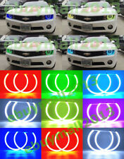 Cotton RGB Halo Rings Angel Eyes Fit For Chevy Camaro 2010-2015 Demon Flash DRL