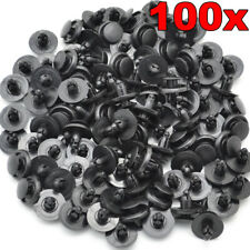 100Pc For Toyota Nissan Push Clips Fastener Rivets Fender Liner Retainer 7mm