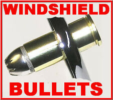 NICKEL 44 MAG BULLET BOLTS PLUS NUT COVERS HARLEY WINDSHIELD (SET OF 9 NICKEL)