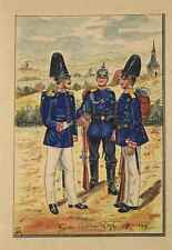 Colorierte litografía-garde regimiento 1880-1900 - soldados/Uniform (3)/s152