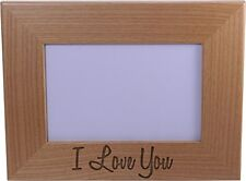 I Love You - Wood Picture Frame Holds 4x6 Inch Photo - Great Gift for Mothers...
