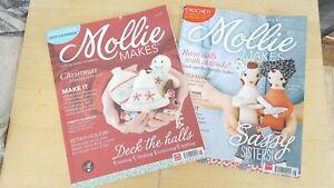 Mollie Makes craft magazine Issues 8 + 28 BUNDLE crafting felt sewing knitting