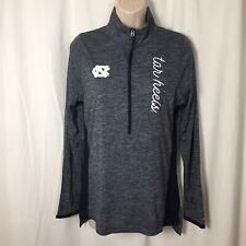 1120032 New UNC Tar Heels M 1/4 Zip Blue Pullover Shirt Women's Medium NCAA Top