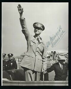 Jonathan Wainwright signed vintage Photograph JSA Authenticated WWII Army