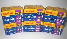 8 Rolls Kodak FarbWelt Klassik 200 Color Print Film 35mm x 24 Exp 09/2011