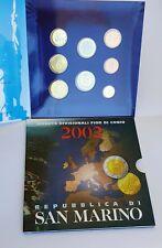 San Marino Divisionale Euro 2002 Ufficiale 8 Valori FDC