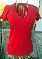 Zero base T-Shirt Gr. 36 - Baumwolle - rot