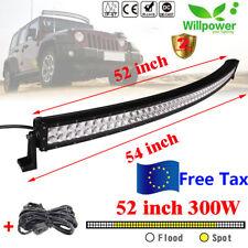 """Curved 52"""" 300W LED barra de luz trabajo Spot Flood Combo FOCO Light Bar camión"""