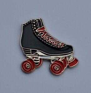 Black Roller Skate Quality Enamel Pin Badge