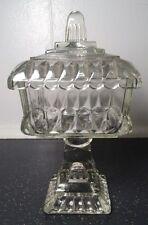 "Vintage Westmoreland Clear Glass Pedestal Compote & Lid Candy or Trinket Dish 8"""