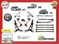 KIT 16 PZ BRACCI SOSPENSIONE ANTERIORE +POSTERIORE ALFA ROMEO 147 156  GT 1.9 D