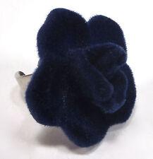 SoHo Ring Samtrose Velvet Samt Rose blau SoHo retro blue Velvet Tracht beflockt