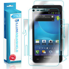 2x iLLumi AquaShield Front Screen + Back Panel Protector for Samsung Galaxy S II