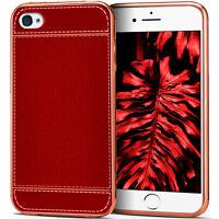 Silikon Case für Apple iPhone 4S / iPhone 4 Leder Optik Schutz Hülle Back Cover