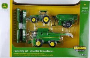 ERTL 1/64th John Deere Harvesting Set S680 Combine 8360R Tractor Frontier Grain
