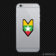 Burmese Driver Badge Cell Phone Sticker Mobile Burma MMR MM