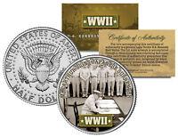 World War II MACARTHUR SIGNS JAPANESE SURRENDER JFK Half Dollar US Coin